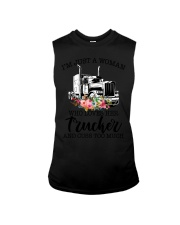 I'm a woman who loves her trucker and cuss much Sleeveless Tee thumbnail