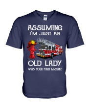 I'm just an old lady V-Neck T-Shirt thumbnail
