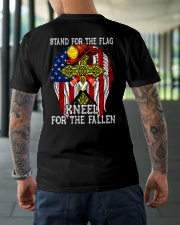 Firefighter shirt Stand for the flag  Classic T-Shirt lifestyle-mens-crewneck-back-3