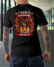 I dance where the devil walks Classic T-Shirt lifestyle-mens-crewneck-back-3