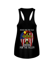 Firefighter shirt Stand for the flag  Ladies Flowy Tank thumbnail