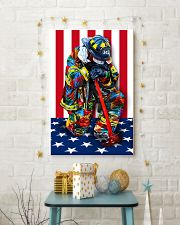Firefighter shirt Stand for the flag  11x17 Poster lifestyle-holiday-poster-3
