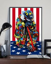 Firefighter shirt Stand for the flag  11x17 Poster lifestyle-poster-2