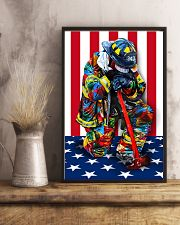 Firefighter shirt Stand for the flag  11x17 Poster lifestyle-poster-3