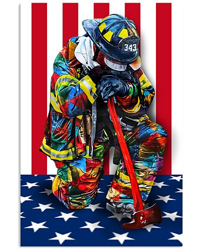 Firefighter shirt Stand for the flag