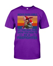 This real man show you how to be a Firefighter Classic T-Shirt tile