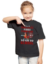 to go to school  Youth T-Shirt lifestyle-youth-tshirt-front-2