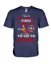to go to school  V-Neck T-Shirt thumbnail