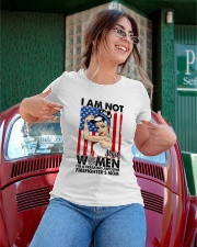 I am not women I am awesome firefighter's mom Ladies T-Shirt apparel-ladies-t-shirt-lifestyle-01
