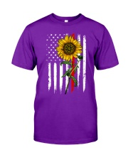 US firefighter Flag Sunflower Classic T-Shirt thumbnail