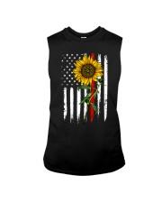 US firefighter Flag Sunflower Sleeveless Tee thumbnail