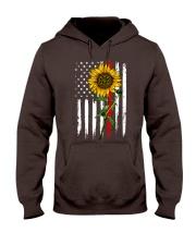 US firefighter Flag Sunflower Hooded Sweatshirt thumbnail