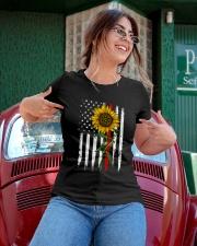 US firefighter Flag Sunflower Ladies T-Shirt apparel-ladies-t-shirt-lifestyle-01