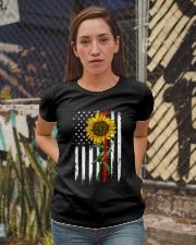 US firefighter Flag Sunflower Ladies T-Shirt apparel-ladies-t-shirt-lifestyle-03
