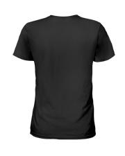 US firefighter Flag Sunflower Ladies T-Shirt back