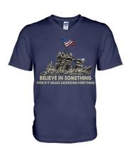 Firefighters Believe  V-Neck T-Shirt thumbnail
