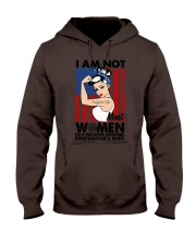 I am not women I am awesome firefighter's wife  Hooded Sweatshirt thumbnail