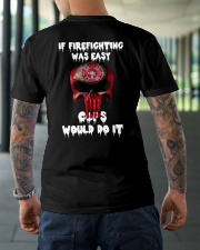 If firefighting was easy  Classic T-Shirt lifestyle-mens-crewneck-back-3