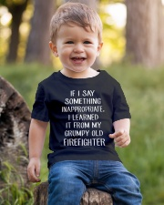 Firefighter shirt If I say something inappropriate Youth T-Shirt lifestyle-youth-tshirt-front-4