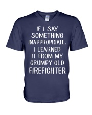 Firefighter shirt If I say something inappropriate V-Neck T-Shirt thumbnail
