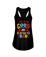 I take after my firefighter dad Ladies Flowy Tank thumbnail