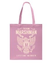 Team MARSHMAN - Lifetime Member Tote Bag thumbnail