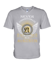 Never Underestimate AUGUSTIN - Name Shirts V-Neck T-Shirt thumbnail