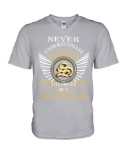 Never Underestimate SPIESS - Name Shirts V-Neck T-Shirt thumbnail
