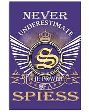 Never Underestimate SPIESS - Name Shirts 11x17 Poster thumbnail