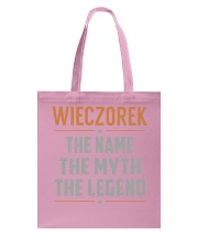 WIECZOREK - Myth Legend Name Shirts Tote Bag thumbnail
