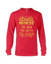 School Nurse - Mom Job Title Long Sleeve Tee thumbnail