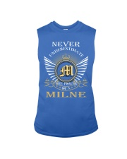 Never Underestimate MILNE - Name Shirts Sleeveless Tee thumbnail