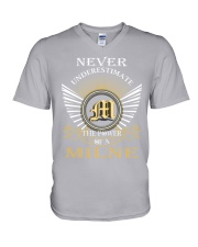 Never Underestimate MILNE - Name Shirts V-Neck T-Shirt thumbnail