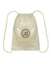 Never Underestimate MILNE - Name Shirts Drawstring Bag thumbnail