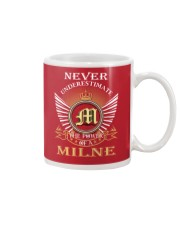 Never Underestimate MILNE - Name Shirts Mug thumbnail