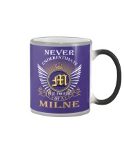 Never Underestimate MILNE - Name Shirts Color Changing Mug thumbnail