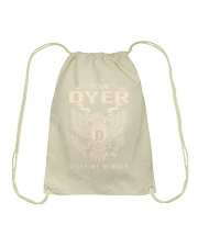 Team DYER - Lifetime Member Drawstring Bag thumbnail