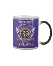 Never Underestimate PAWLOWSKI - Name Shirts Color Changing Mug thumbnail