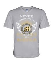 Never Underestimate MARGOLIS - Name Shirts V-Neck T-Shirt thumbnail