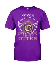 Never Underestimate OTTER - Name Shirts Classic T-Shirt thumbnail