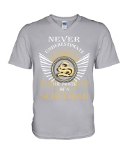 Never Underestimate SCHULMAN - Name Shirts V-Neck T-Shirt thumbnail