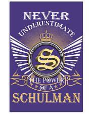 Never Underestimate SCHULMAN - Name Shirts 11x17 Poster thumbnail