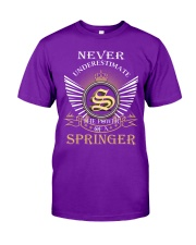 Never Underestimate SPRINGER - Name Shirts Classic T-Shirt thumbnail