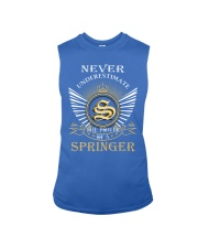 Never Underestimate SPRINGER - Name Shirts Sleeveless Tee thumbnail