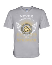 Never Underestimate SPRINGER - Name Shirts V-Neck T-Shirt thumbnail