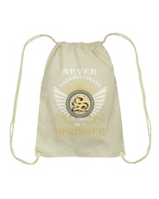 Never Underestimate SPRINGER - Name Shirts Drawstring Bag thumbnail