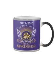 Never Underestimate SPRINGER - Name Shirts Color Changing Mug thumbnail