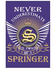 Never Underestimate SPRINGER - Name Shirts 11x17 Poster thumbnail
