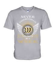 Never Underestimate WNEK - Name Shirts V-Neck T-Shirt tile