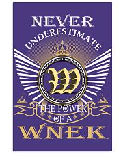 Never Underestimate WNEK - Name Shirts Vertical Poster tile